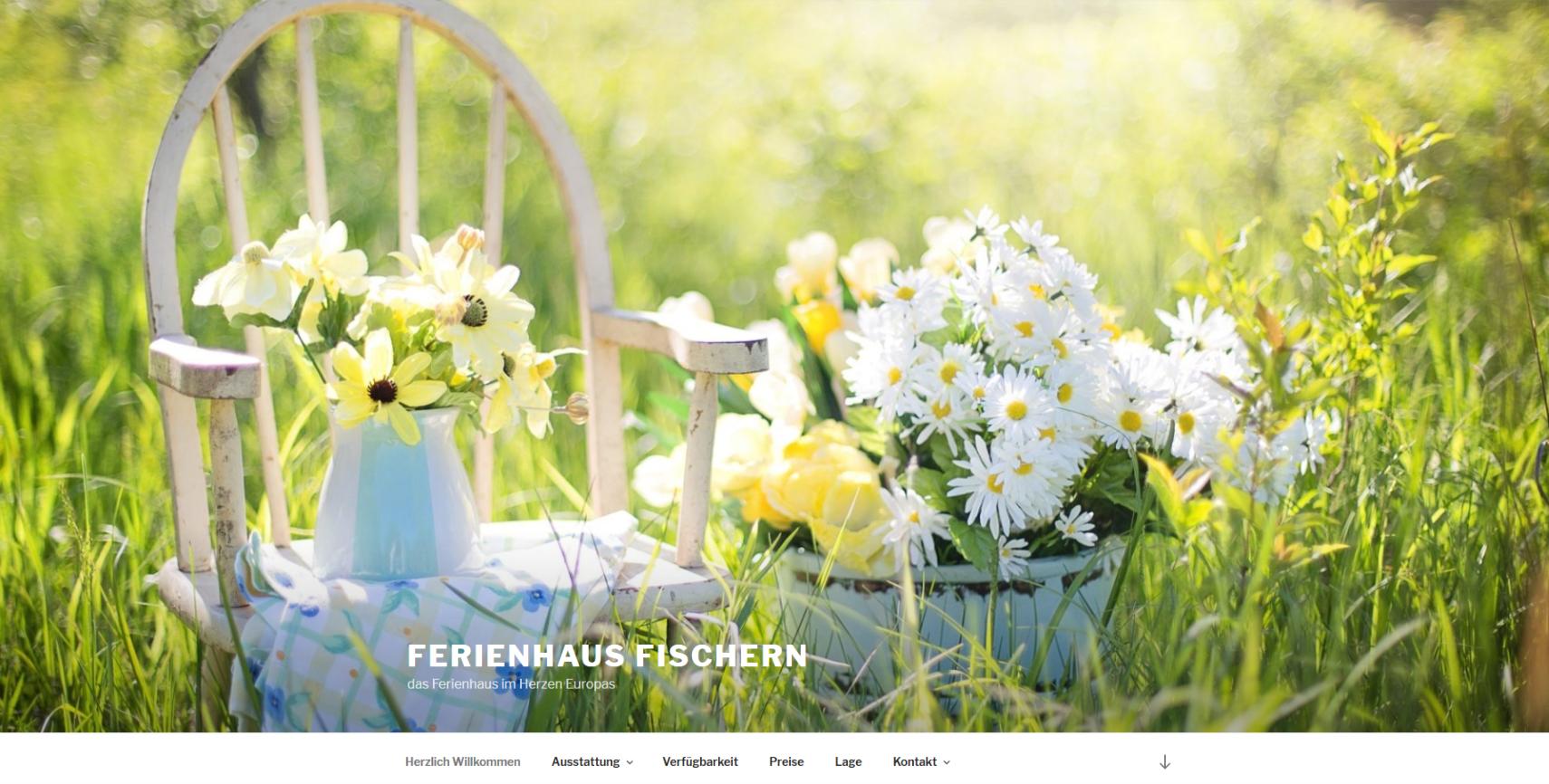 Neue Homepage Ferienhaus Fischern