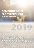 Gemeindebrief 1. Quartal 2019